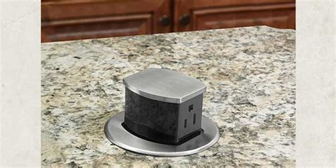 Countertop Receptacle by Hubbell Wiring Device Kellems Introduces Pop Up