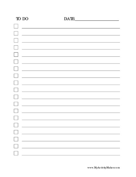 printable to do list pdf 6 best images of professional to do list printable
