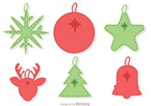 stitched christmas ornament decoration vector pack