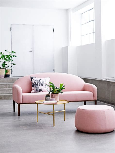Pink Sofa Living Room 16 Ultra Chic Blush Pink Sofas How To Style Them
