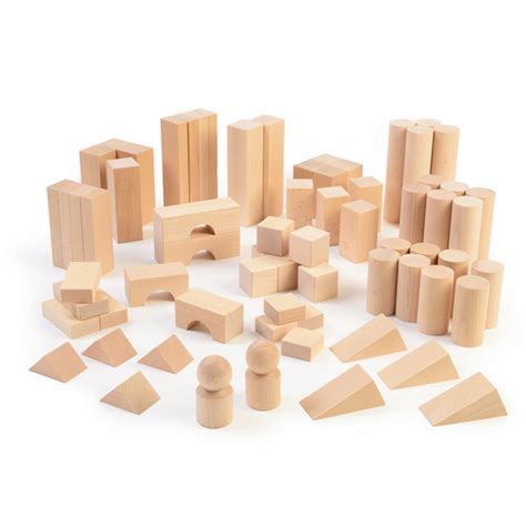 Wooden Bricks set of wooden blocks early excellence