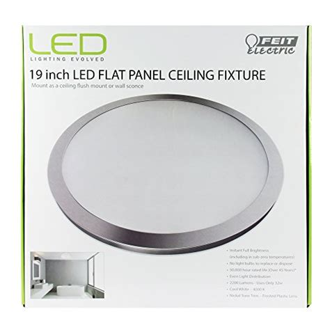 feit electric led flat panel light fixture costco feit electric 74049 flush mount led round flat panel 19