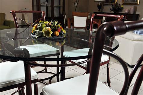 tavoli in ferro battuto e vetro tavolo in vetro e 4 sedie in ferro battuto in saldo a
