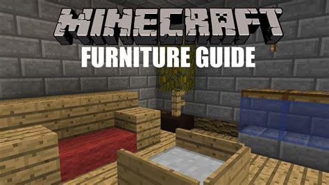 minecraft furniture guide youtube