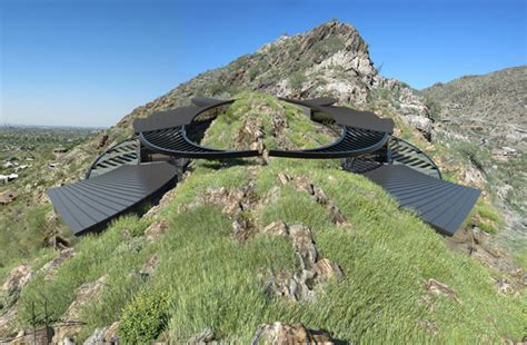 mountain top house plans manta ray shaped mummy house hugs a mountain top in arizona inhabitat green