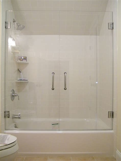 Frameless Glass Tub Enclosure Framless Glass Doors On Bath Shower Glass Doors