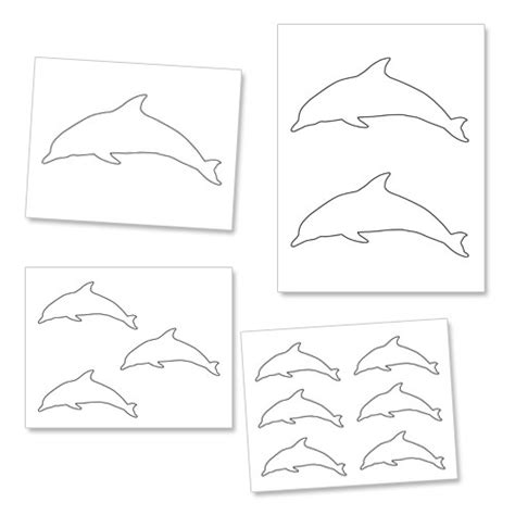 dolphin cut out printable www pixshark com images