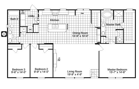 wide floor plans nc 100 riviera ii tl30683b manufactured home 100