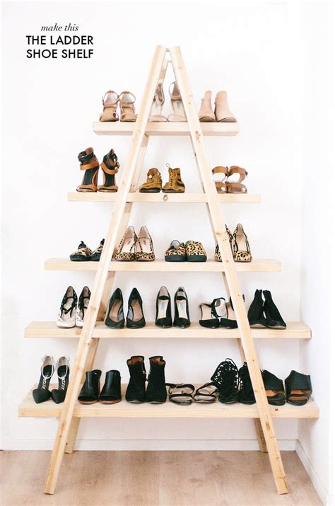 shoe shelves diy diy update the ladder shoe shelf a pair a spare