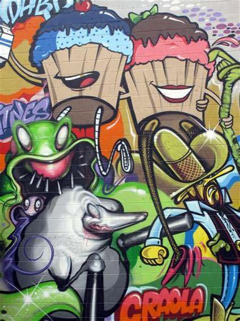 tooned street art cartoon graffiti dabs myla