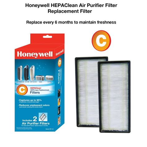 honeywell hepaclean replacement filter c 2 pack hrf c2 the home depot