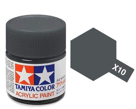 acrylic paint metal tamiya paint acrylic x10 gun metal 23ml bottle paint