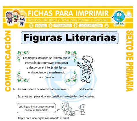 imagenes literarias que son que son las figuras literarias para sexto de primaria