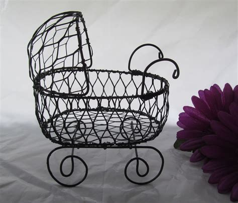 Baby Shower Wire by Wire Baby Carriage Baby Buggy Table Center