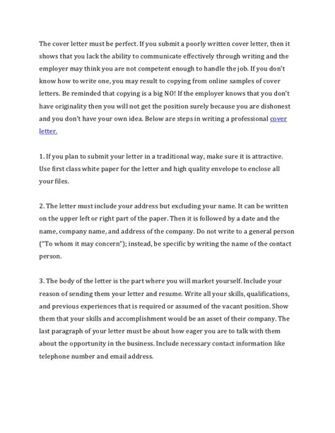 what not to put in a cover letter how to write a cover letter for a resume