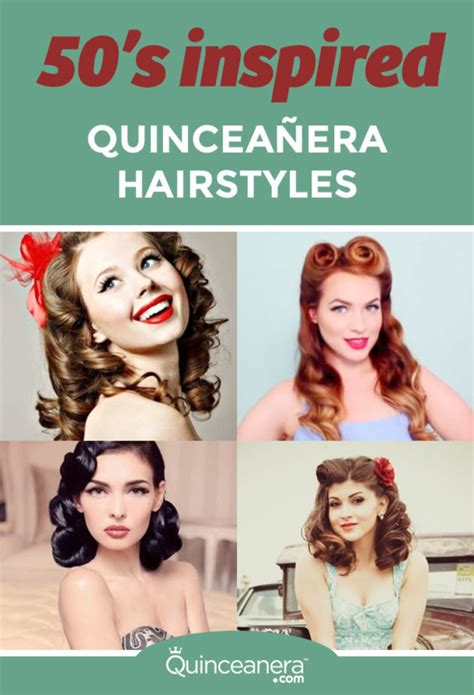history behind hairstyles 50 s inspired quinceanera hairstyles