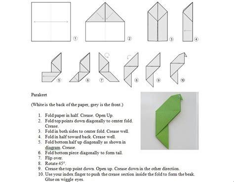 Origami Parakeet - origami parakeet