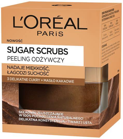 Scrub L Oreal l or 233 al sugar scrubs odżywczy peeling do twarzy i ust