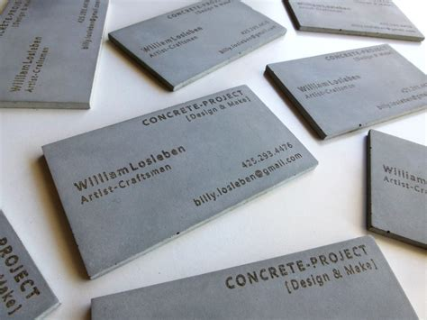 concrete business cards concrete business cards home design