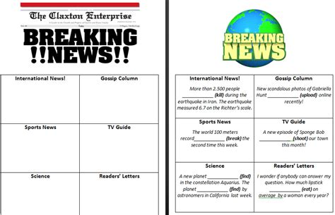 newspaper workflow breaking news passive voice in use