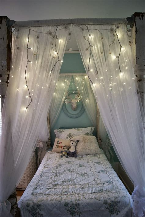 Bed Canopy With Lights Tips To Make Diy Canopy Bed