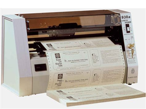 Yale Background Check Martin Yale 930a Check Signing Machine