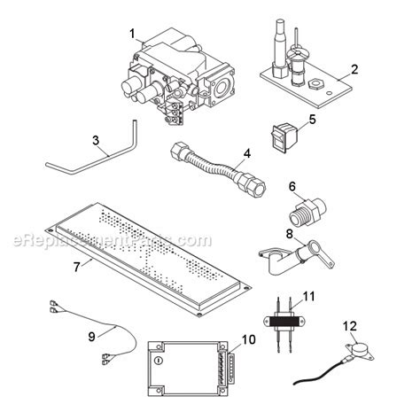 monessen gas fireplace parts monessen 400bbv parts list and diagram b vent series