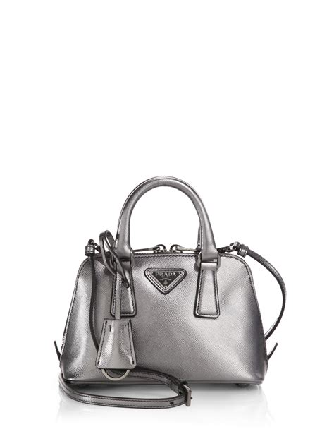 Bag Ransel Valentino 4320 prada saffiano mini promenade bag in metallic lyst