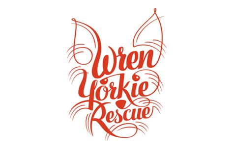 wren yorkie rescue oakland wren yorkie rescue logo on behance