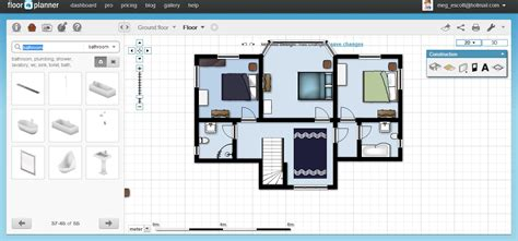free floor plan software floorplanner review free floor architecture planner cad autocad archicad create floor