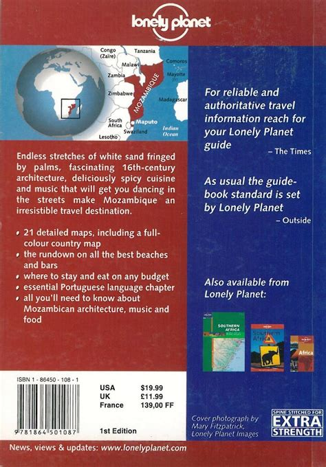 lonely planet africa travel guide books themapstore lonely planet mozambique africa east africa