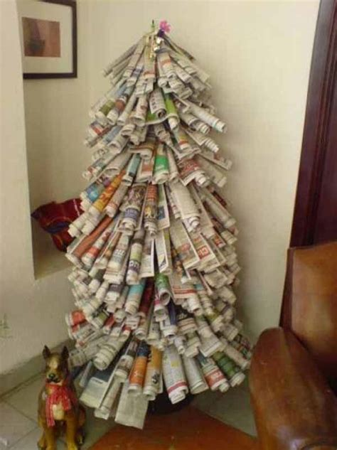 arboles de navidad hechos con revistas de 50 fotos 193 rboles de navidad reciclados 193 rbol de navidad reciclado