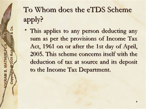section 8 income tax act e tds quarterly data preparation 0910