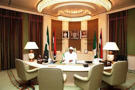 I Resumed Office Today by Photos Buhari Osinbajo Tour Aso Rock Presidential Villa