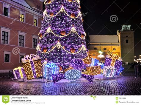 christmas decorations in warsaw stock images image 28226224