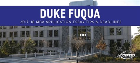 Duke Fuqua Mba Reapplicant by Renaldi S Duke Fuqua Mba Essay Tips Deadlines