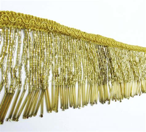 gold fringe curtain gold beaded fringe decorative upholstery ribbon curtain