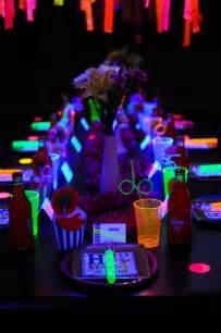 Backyard Paint Booth Kara S Party Ideas Neon Glow In The Dark Teen Birthday