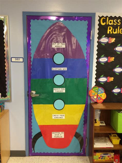 rocket behavior chart space classroom ideas pinterest