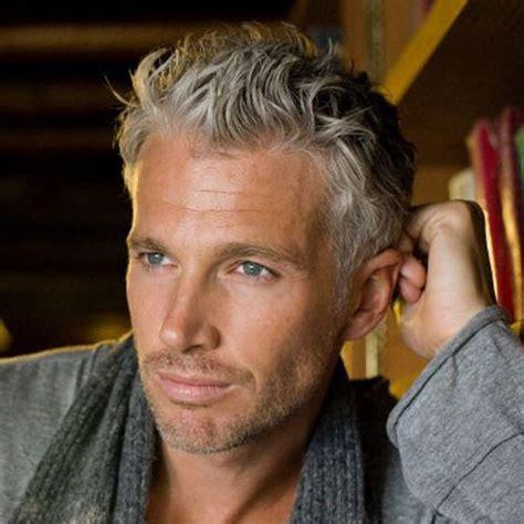 silver fox haircut silver and grey hair for men