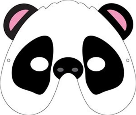 printable panda mask template i think i m in love with this shape from the silhouette