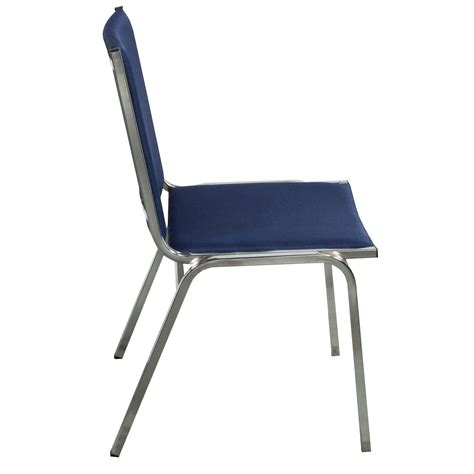 Stack Chair by Global Used Armless Stack Chair Royal Blue National Office Interiors And Liquidators