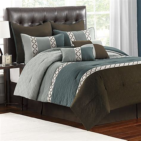 reese 8 piece pewter comforter set bed bath beyond