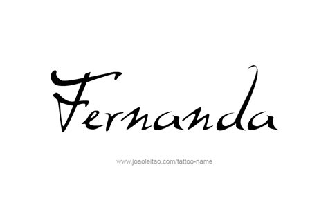 fernanda name tattoo designs