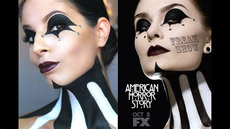 ideas for a potential american horror story feature american horror story freakshow makeup tutorial
