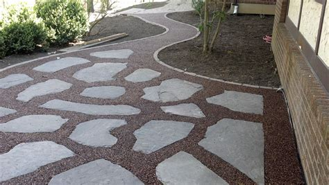 Paver And Gravel Patio Gravel Lok Pebbles Patio Walkway Outdoor Living Ideas Pinterest Pebble Patio Walkways