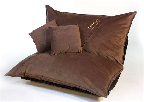 lovesac pattern coffee velvish pillowsac package original oversized sac