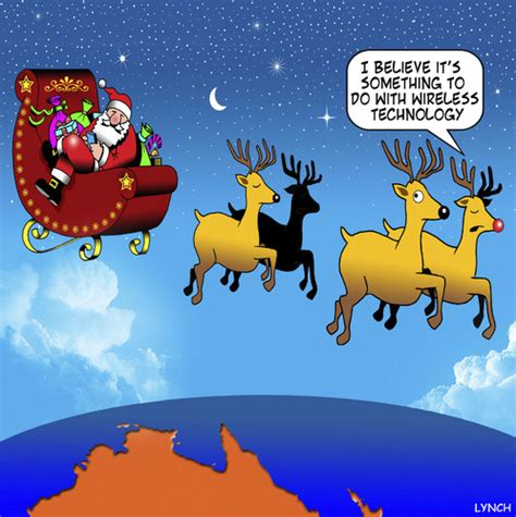 xmas tales australian funny wireless technology by media culture toonpool