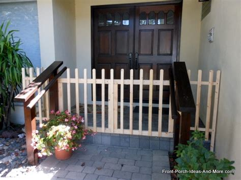 Banister Paint Ideas Build A Porch Gate Build A Picket Fence Gate For Your Porch