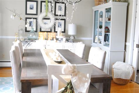 Make Dining Room Table christmas home tour holiday decorating ideas lemonade